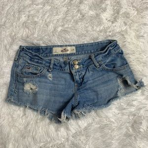 Hollister Distressed Jean Shorts Size 1